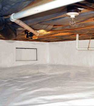 A complete crawl space repair system in Carpinteria
