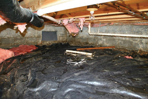Crawl Space Repair Before in Ventura