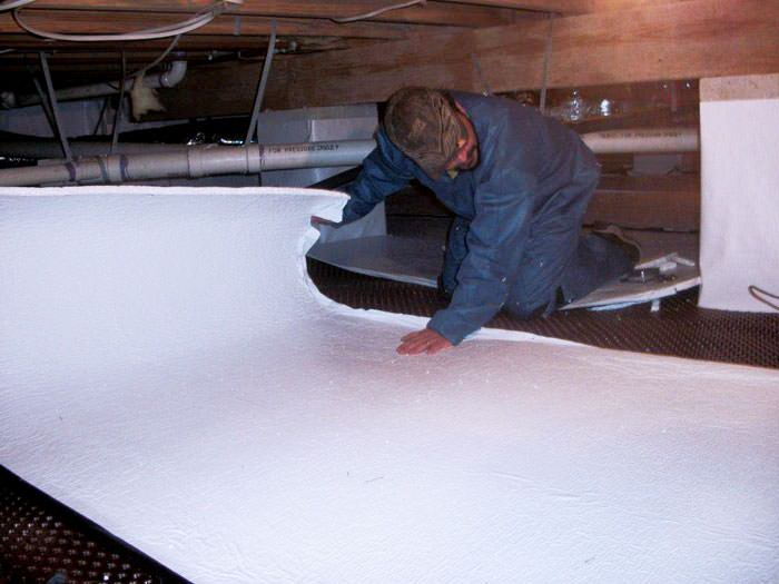 Waterproofing Systems Camarillo : Crawl space insulation with terrablock in california