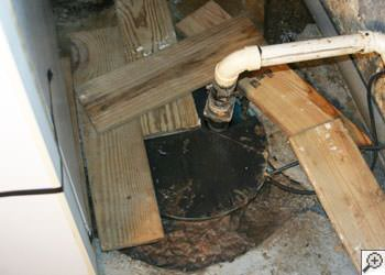 An ugly, clogged sump pump system in Moorpark, California