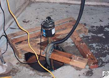 A Somis sump pump system that failed and lead to a basement flood.