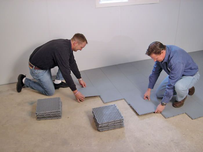 Basement Sub Floor Matting Options In California Basement Subfloor