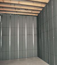 Thermal insulation panels for basement finishing in Santa Barbara, California